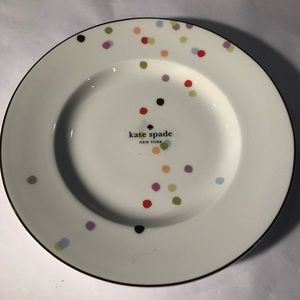 Kate spade market street confetti plate